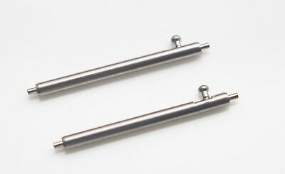 1 Pair Quick Release Spring Bar Stainless Steel 18mm 20mm 22mm  Watch Pins