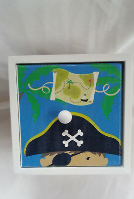 storage box with pirate detail ideal for childs room
