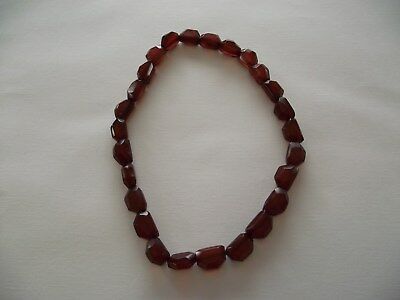 Antique Cherry Amber Bakelite Art Deco Period Necklace, C1915,
