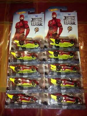 NEW Lot of 10 2017 2018 Hot Wheels DC Justice League The Flash FREE SHIPPING