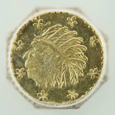 1857 California Gold Token Octagonal Indian - MS63 PL