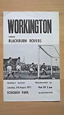 Workington v Blackburn Rovers 11/8/73 - Friendly