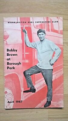Workington 1967 - Bobby Brown Testimonial booklet
