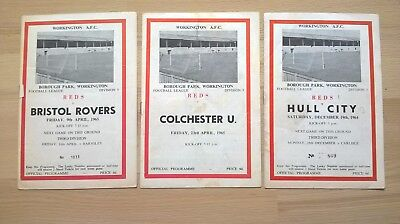 Workington v Hull City, Colchester, Bristol Brovers  64/65  season,