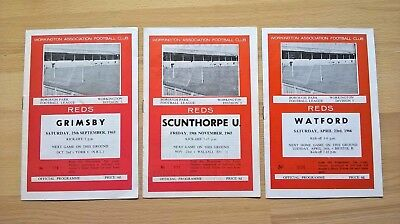 Workington v Watford, Scunthrope, Grimsby all 65/66 season