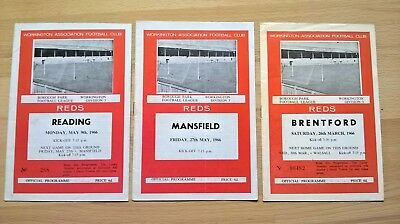 Workington v Reading, Brentford, Mansfield all 65/66 season