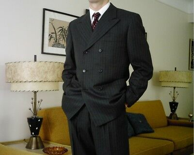 1940s Style Vintage Men's 2-Pant Double Breasted Suit RARE!!!