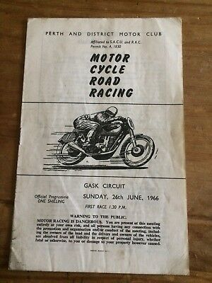 1966 Motorcycle Road Racing Programme