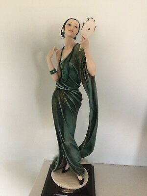"""GIUSEPPE ARMANI Florence Italy Figurine """"CLEO"""" signed and numbered LADY & MIRROR"""