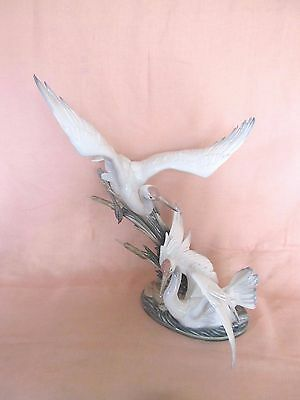 """GORGEOUS!!  Lladro #1456  """"Cranes""""  Perfect and absolutely Stunning!!"""