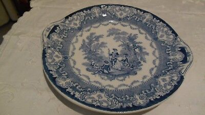 Antique Doulton Blue And White Plate