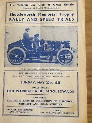 1951 Rally And Speed Trial Programme