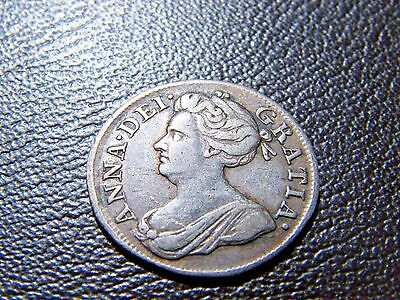 1708 Queen Anne Silver Maundy Fourpence Groat Very Nice Coin
