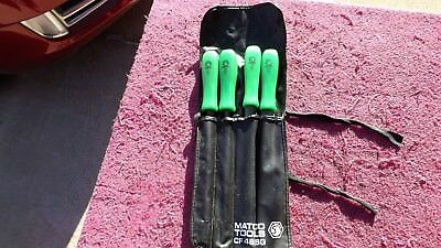 "Matco *near Mint!* Cf48Sg 4-Piece ""green"" File Set!"