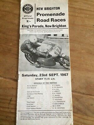 2x New Brighton Road Racing Programmes