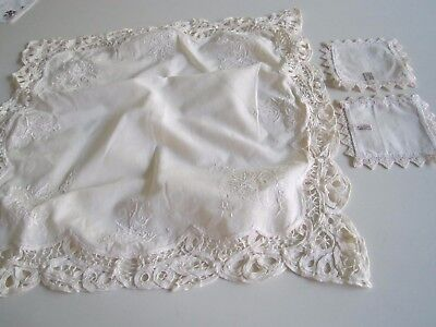 American Girl SAMANTHA 1991 Lace Table Cloth Napkins Lemonade Birthday Party
