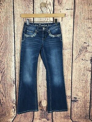 Justice Premium Bootcut Jeweled Jeans Size 8R
