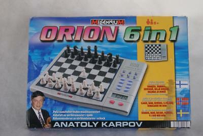 Millennium Orion 6 In 1 Electronic Computer Game Chess Board Games - Karpov