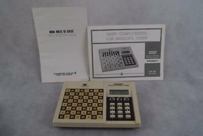 Vintage Tandy Computerized LCD Graduate Chess Complete Tested and Working
