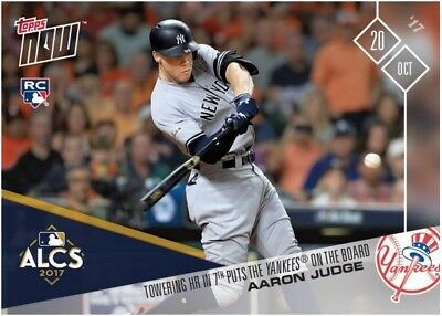 2017 Topps NOW MLB 801 Aaron Judge Towering HR in 7th Puts Yankees on the Board