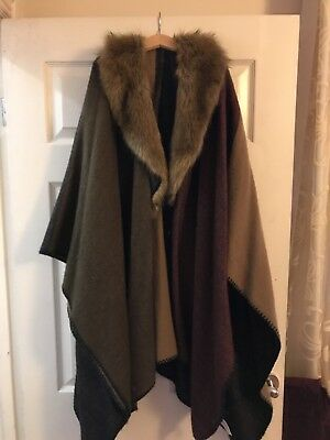 Faux Fur Wrap Plus Size