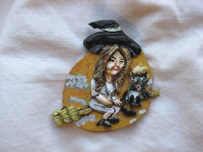 "President Trump & Melania ""Halloween Witch"" Novelty 2017 Political Pin"