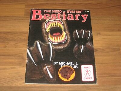 Hero System 3rd Edition The HERO System Bestiary SC Sourcebook Iron Crown 1986