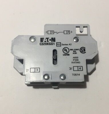 EATON CUTLER HAMMER C320KGS1 Freedom Series Auxiliary Contactor Contact Lighting