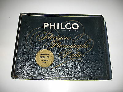Philco Television Phonograph Radio Deluxe Dealer Sale Brochure for 1956