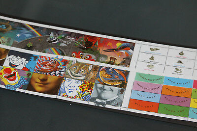 Gb 1991 - Greetings Issues 2 Panes Of Ten + All Labels (Face Value £13.00)