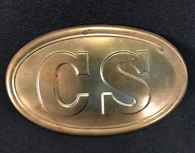 Vintage Confederate States Civil War Re-Enactment Belt Buckle Cs