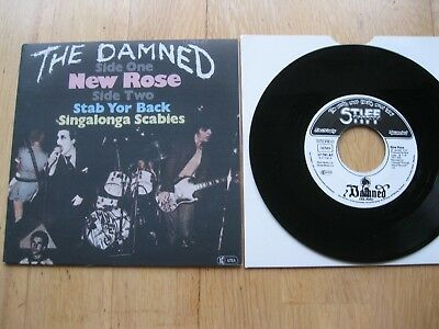 "The Damned-New Rose 7""-Punk Clash Pistols Generation X Siouxsie-German Repress"
