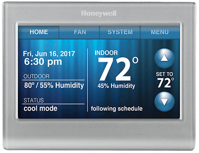 Honeywell RTH9580WF1005 Smart Wi-Fi 7 Day Programmable Color Touch Thermostat