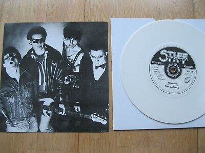 "The Damned-New Rose 7""-Punk Clash Pistols Generation X-White Vinyl Repress"