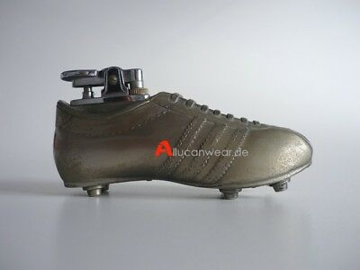 70`s Vintage Adidas Soccer Shoes Cleats Advertising Table Metal Lighter 80`s Rom