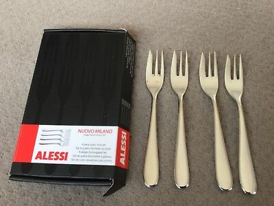 Alessi 4 piece pastry fork set nuovo milano in box