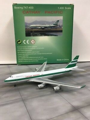 Rare Blue Box / Gemini Jets Scale 1:400 Cathay Pacific Boeing 747-400 ZK-NBS