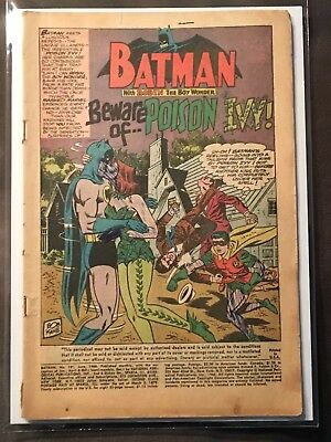 Batman #181 (1966 DC Comics)1st appearance of Poison Ivy Silver Age Reader