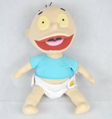 """Vintage 1997 Very Large Tommy Pickles The Rugrats Baby Soft Plush Toy 22"""""""