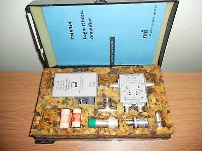 Vintage Collectable Marconi Instruments. TM9954. TM9701.+ SUHNERS and Manual.