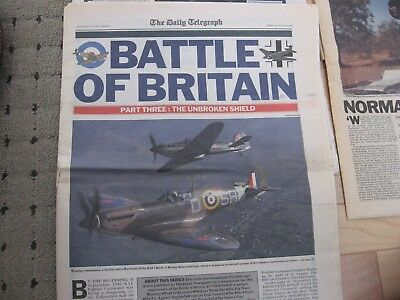 """11 different Reprints of """"The Daily Telegraph"""" of London Mostly World War Two"""