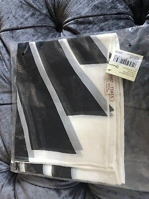 Past Times Art Deco Stripe Silk Scarf, BRAND NEW