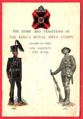Story & Tradiations of THE KING'S ROYAL RIFLE CORPS ~ 1946 Booklet
