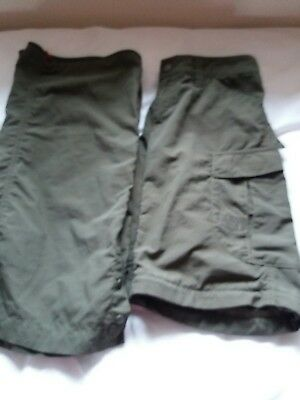 Ladies North Face walking trousers/shorts size small (8)