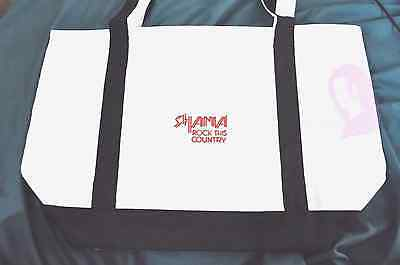 Shania Twain Rock This Country Tour VIP RARE Black Tote Bag + now w/FREE Gifts