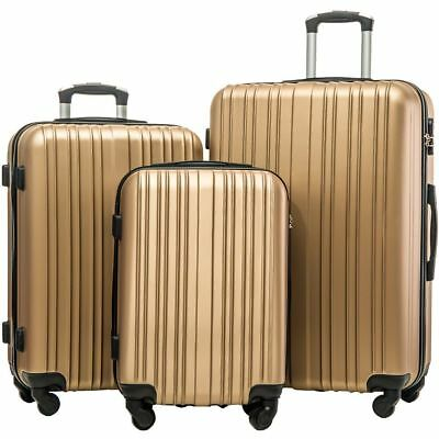 3Pcs Luggage Travel Set Bag w/TSA Lock ABS Trolley Spinner Carry On Suitcase OC5