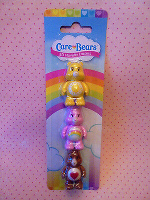 Care Bears 3D Colourful Novelty Erasers
