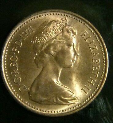 1p 1971 ONE NEW PENNY VERY RARE QEII 2ND BUST