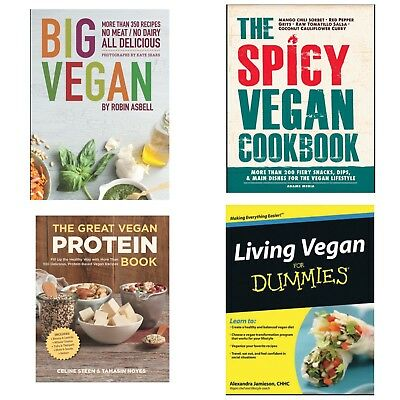 Vegan Cookbooks, Big Vegan, Living Vegan For Dummies, Spicy Vegan - Read Details