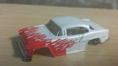 Dash motorsports afx xtraction 55 Chevy white w/flames